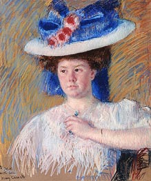 Portrait of Helen Sears, 1907 by Cassatt | Painting Reproduction