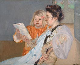 The Reading Lesson | Cassatt | Gemälde Reproduktion