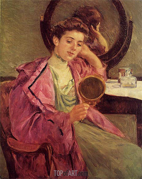 Woman at Her Toilette, 1909 | Cassatt | Painting Reproduction
