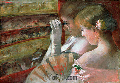 A Corner of the Loge (In the Box), 1879 | Cassatt | Painting Reproduction