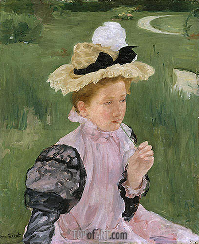 Portrait of a Young Girl, 1899 | Cassatt | Painting Reproduction