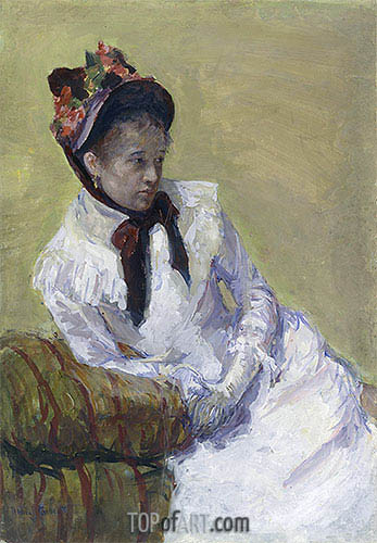 Self Portrait, 1899 | Cassatt | Gemälde Reproduktion