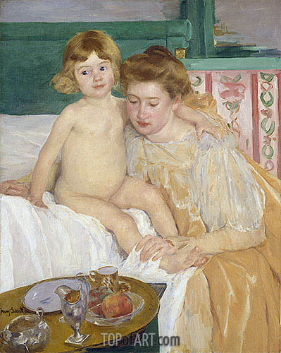 Mother and Child (Baby Getting Up from His Nap), c.1899 | Cassatt | Gemälde Reproduktion