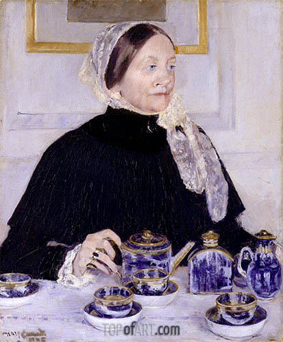Lady at the Tea Table, c.1883/85 | Cassatt | Painting Reproduction