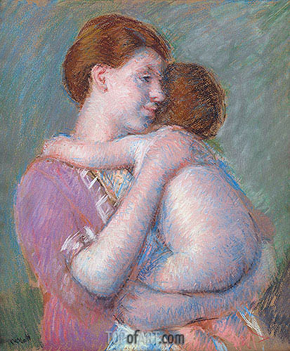 Mother and Child, 1914 | Cassatt | Painting Reproduction