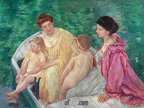 The Bath, c.1895 | Cassatt | Painting Reproduction