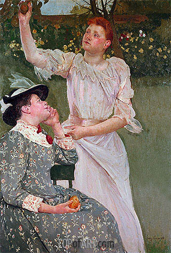 Women Picking Fruit, 1891 | Cassatt | Gemälde Reproduktion