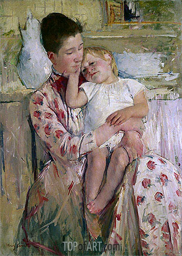 Mother and Child, 1890 | Cassatt | Gemälde Reproduktion