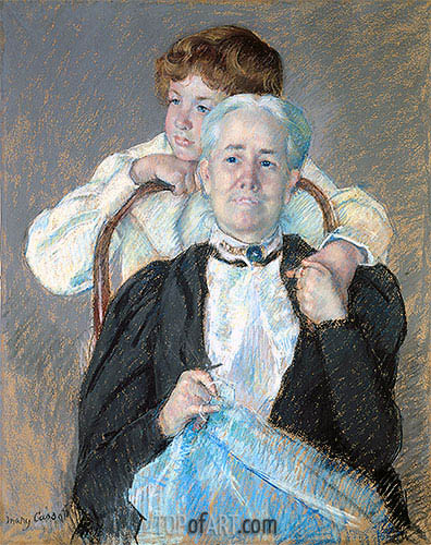 Portrait of Mrs. Cyrus J. Lawrence with Her Grandson, c.1898/99 | Cassatt | Gemälde Reproduktion