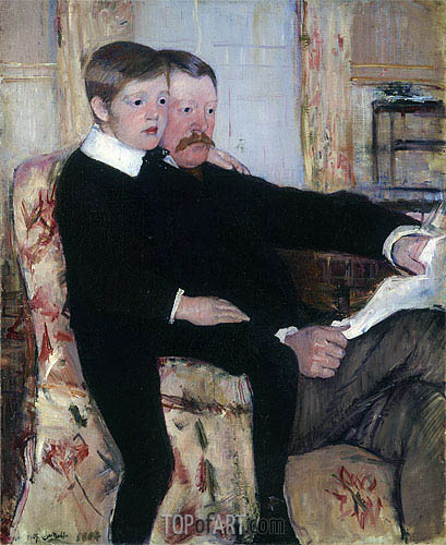 Portrait of Alexander Cassatt and His Son, 1884 | Cassatt | Gemälde Reproduktion