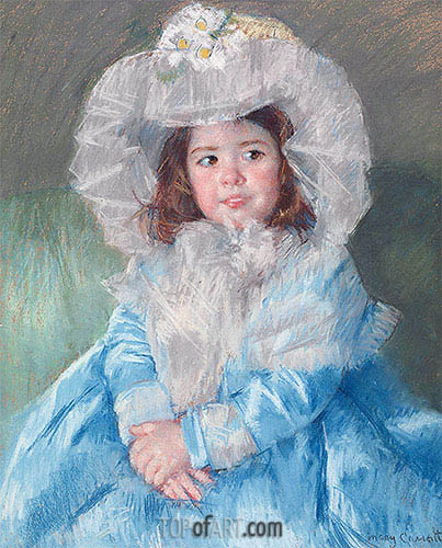 Margot In Blue, 1902 | Cassatt | Painting Reproduction