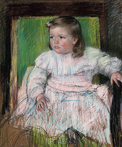 The Pink Sash (Ellen Mary Cassatt), c.1898 | Cassatt | Painting Reproduction