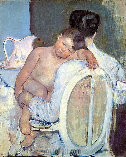 Woman Sitting with a Child in Her Arms, c.1890 | Cassatt | Painting Reproduction