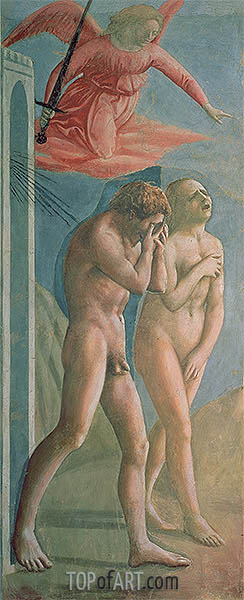 Adam and Eve Banished from Paradise, c.1427 | Masaccio | Painting Reproduction