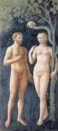 The Temptation of Adam and Eve, c.1427 by Masolino da Panicale | Painting Reproduction
