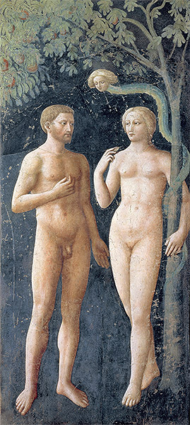 The Temptation of Adam and Eve, c.1427 | Masolino da Panicale | Painting Reproduction