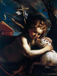 Young St. John the Baptist, undated by Mattia Preti | Painting Reproduction