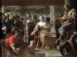 The Queen of Sheba before Solomon | Mattia Preti | Gemälde Reproduktion