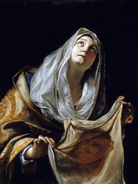 Saint Veronica with the Veil | Mattia Preti | Painting Reproduction