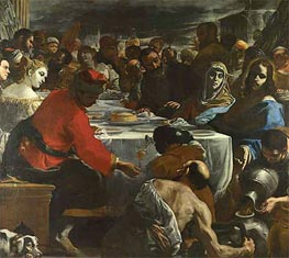 The Marriage at Cana | Mattia Preti | Gemälde Reproduktion