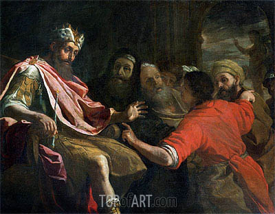 Daniel Interpreting Nebuchadnezzar's First Dream, undated | Mattia Preti | Gemälde Reproduktion