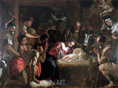 The Adoration of the Shepherds, undated | Mattia Preti | Gemälde Reproduktion
