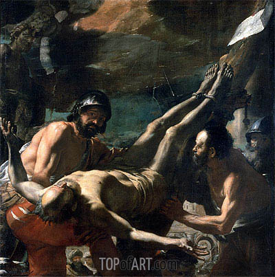 The Martyrdom of St. Peter, c.1656/60 | Mattia Preti | Gemälde Reproduktion