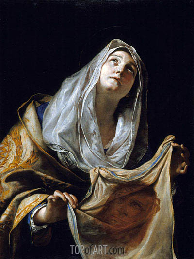 Saint Veronica with the Veil, c.1655/60 | Mattia Preti | Gemälde Reproduktion