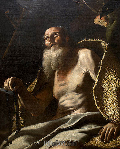 St. Paul the Hermit, c.1660 | Mattia Preti | Painting Reproduction