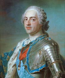 Portrait of Louis XV of France, 1748 by Maurice Quentin de La Tour | Painting Reproduction