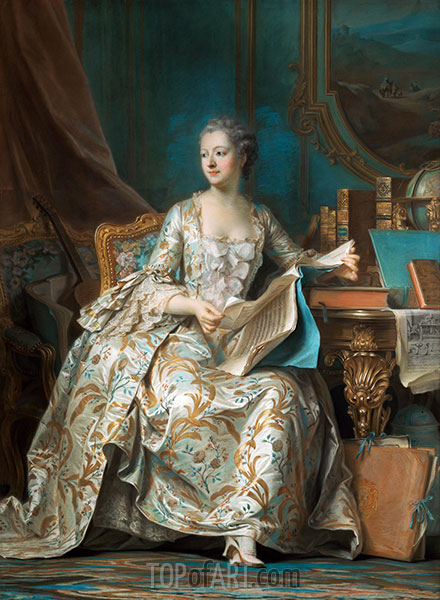 Marquise de Pompadour, c.1749/55 | Maurice Quentin de La Tour | Gemälde Reproduktion