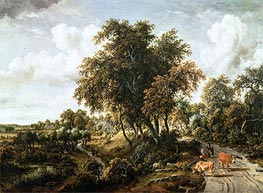 Road on the Dyke | Meindert Hobbema | Painting Reproduction