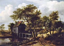 The Water Mill, 1662 von Meindert Hobbema | Gemälde-Reproduktion