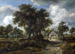 A Woody Landscape, c.1665 by Meindert Hobbema | Painting Reproduction