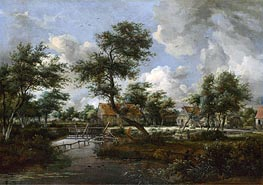 The Watermills at Singraven near Denekamp, c.1665/70 von Meindert Hobbema | Gemälde-Reproduktion