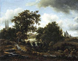 Imaginary View of Deventer | Meindert Hobbema | Painting Reproduction