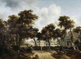 Cottages under the Trees, c.1665 von Meindert Hobbema | Gemälde-Reproduktion