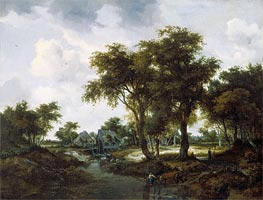 The Water Mill (The Trevor Landscape) | Meindert Hobbema | Painting Reproduction