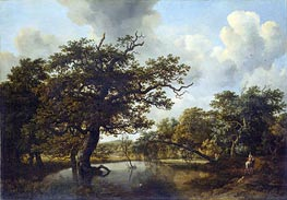 The Old Oak | Meindert Hobbema | Painting Reproduction