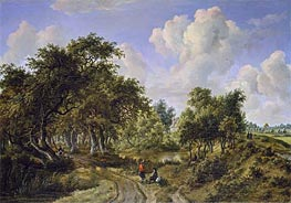 A Wooded Landscape, c.1663 by Meindert Hobbema | Painting Reproduction