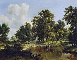The Outskirts of a Wood | Meindert Hobbema | Gemälde Reproduktion