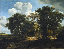 A Cottage in the Woods | Meindert Hobbema | Painting Reproduction