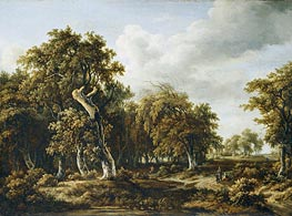 The Oak Forest | Meindert Hobbema | Painting Reproduction