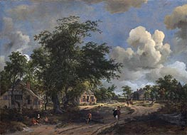 A View on a High Road | Meindert Hobbema | Gemälde Reproduktion