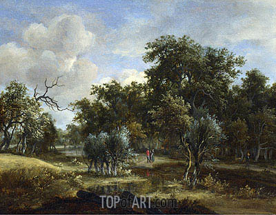 A Stream by a Wood, c.1663 | Meindert Hobbema | Painting Reproduction