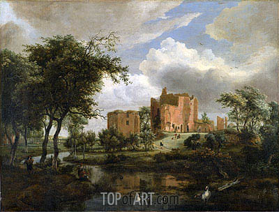 The Ruins of Brederode Castle, 1671 | Meindert Hobbema | Painting Reproduction