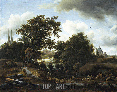 Imaginary View of Deventer, c.1662/63 | Meindert Hobbema | Painting Reproduction