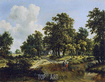 The Outskirts of a Wood, c.1660/70 | Meindert Hobbema | Painting Reproduction