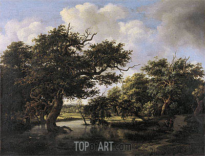 Woodland Pond, c.1660 | Meindert Hobbema | Painting Reproduction