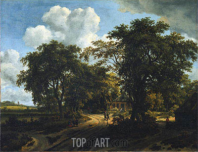 A Cottage in the Woods, c.1662 | Meindert Hobbema | Painting Reproduction